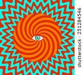Color Hypnotic Retro Poster...