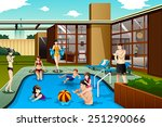 a vector illustration of family ... | Shutterstock .eps vector #251290066