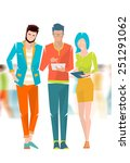concept of meeting and...   Shutterstock .eps vector #251291062