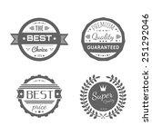 vector commercial stamps set in ... | Shutterstock .eps vector #251292046