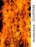 fire flames on blacks...   Shutterstock . vector #251297035