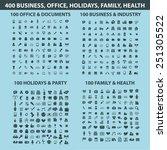 400 business  office ... | Shutterstock .eps vector #251305522