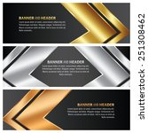 gold  silver and bronze banner... | Shutterstock .eps vector #251308462