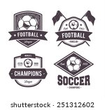 vector set of retro football... | Shutterstock .eps vector #251312602