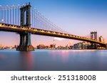 Manhattan Bridge Illuminated At ...
