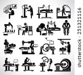 robotic surgery icons set ... | Shutterstock .eps vector #251321116