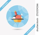 salad flat icon | Shutterstock .eps vector #251324266