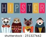 Animal Hipster Portraits  ...