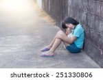 portrait of a sad and lonely... | Shutterstock . vector #251330806