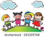 kids | Shutterstock .eps vector #251335768