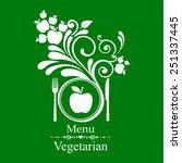 vegetarian menu. vector... | Shutterstock .eps vector #251337445