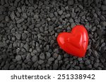 valentine's day heart greeting... | Shutterstock . vector #251338942