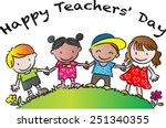 happy teachers day | Shutterstock .eps vector #251340355