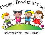 happy teachers day | Shutterstock .eps vector #251340358