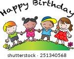 happy birthday | Shutterstock .eps vector #251340568