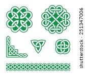 celtic knots green patterns  ...