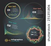 Infographics With Sound Waves...
