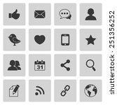 social media icons | Shutterstock . vector #251356252