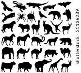 wild animals set | Shutterstock .eps vector #25136239