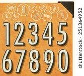 retro number design. editable...   Shutterstock .eps vector #251364952