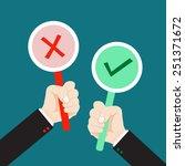 hand holding true and false... | Shutterstock .eps vector #251371672