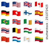big collection of country flags ... | Shutterstock .eps vector #251372425