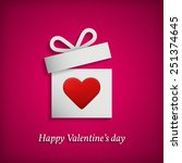 gift box with heart symbol.... | Shutterstock . vector #251374645