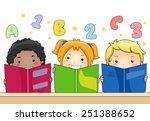 Illustration Of Kids Learning...