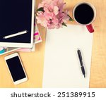 office table with digital... | Shutterstock . vector #251389915