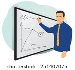 businessman writing on... | Shutterstock .eps vector #251407075
