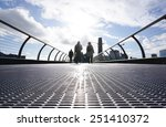 millenium bridge from the low... | Shutterstock . vector #251410372