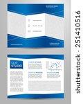 business trifold brochure... | Shutterstock .eps vector #251410516