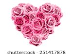 Image Of Pink Roses In Heart...