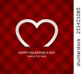 valentines day card vector... | Shutterstock .eps vector #251421085