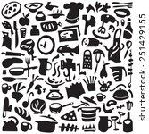 cookery  kitchen tools   set... | Shutterstock .eps vector #251429155