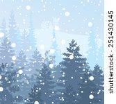 panorama of wild coniferous... | Shutterstock .eps vector #251430145