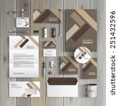 brown corporate identity... | Shutterstock .eps vector #251432596