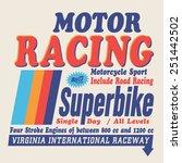 racing motorcycle sport... | Shutterstock .eps vector #251442502