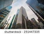 tall skyscrapers during evening ... | Shutterstock . vector #251447335