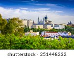 madrid  spain skyline at santa... | Shutterstock . vector #251448232