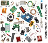 collection of electronic...   Shutterstock . vector #251450398