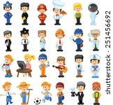 cartoon vector characters of... | Shutterstock .eps vector #251456692