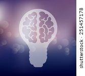 lightbulb icon on blurred...   Shutterstock . vector #251457178