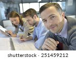 portrait of architect amongst... | Shutterstock . vector #251459212