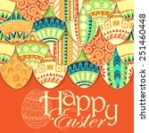 easter background with colorful ... | Shutterstock .eps vector #251460448