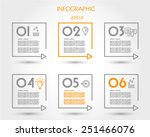 linear square timeline elements.... | Shutterstock .eps vector #251466076