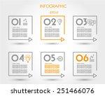 linear square timeline elements.... | Shutterstock .eps vector #251466076