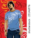 portrait of an urban boy | Shutterstock .eps vector #25146976