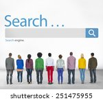 search browse find internet... | Shutterstock . vector #251475955