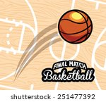 basketball emblem design ...   Shutterstock .eps vector #251477392